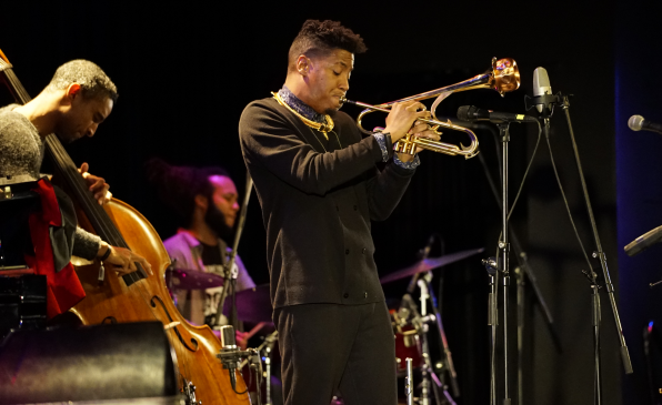 …it's mostly all about Christian Scott's trumpet